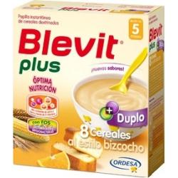 BLEVIT PLUS DUPLO 8 CEREALES AL ESTILO BIZCOCHO 600 GR