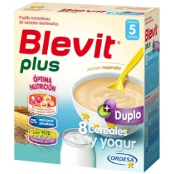 BLEVIT PLUS DUPLO 8 CEREALES Y YOGUR 600 GR