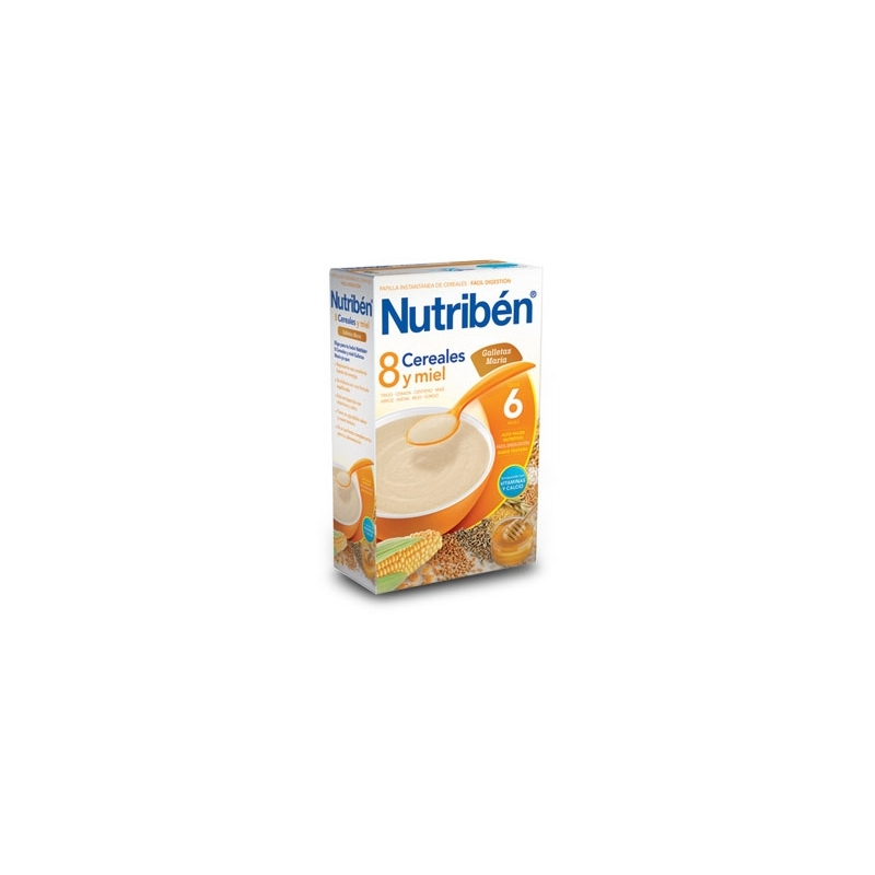 NUTRIBÉN 8 CEREALES MIEL Y GALLETA MARÍA 600 GR