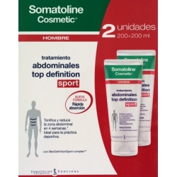 SOMATOLINE HOMBRE DUPLO ABDOMINALES TOP DEFINITION SPORT 2X200 ML