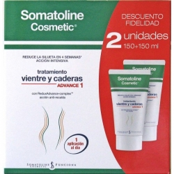 SOMATOLINE COSMETIC DUPLO VIENTRE Y CADERAS ADVANCE1  2X150 ML