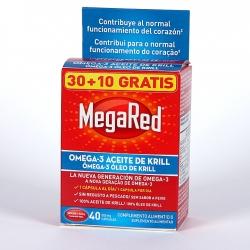 MEGARED OMEGA-3 ACEITE DE KRILL 30 + 10 CAPSULAS