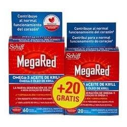MEGARED OMEGA-3 ACEITE DE KRILL 60 + 20 CAPSULAS