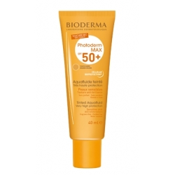 BIODERMA PROTECTOR PHOTODERM MAX AQUAFLUIDE GOLDEN COLOUR,TEINTE DOREÉ SPF 50+ 40 ML