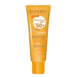 BIODERMA PROTECTOR PHOTODERM MAX AQUAFLUIDO TONO LIGHT, CLARO SPF 50+ 40 ML