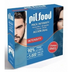 PIL-FOOD INTENSITY PACK 18 AMPOLLAS+60 CAPSULAS+CHAMPU ANTICAIDA