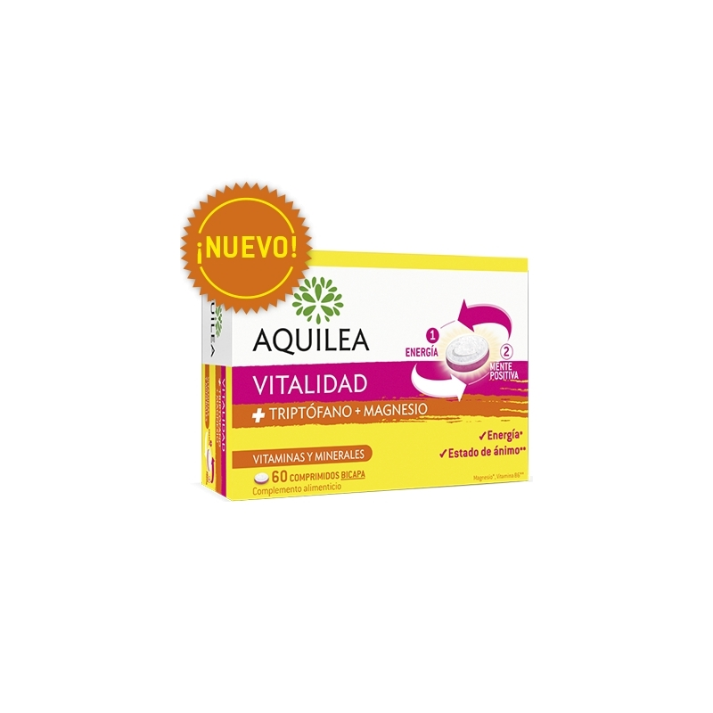 AQUILEA VITALIDAD + TRIPTOFANO + MAGNESIO 60 COMPRIMIDOS BICAPA