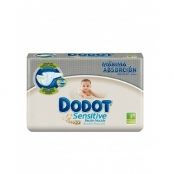 DODOT SENSITIVE TALLA 3 40 UDS