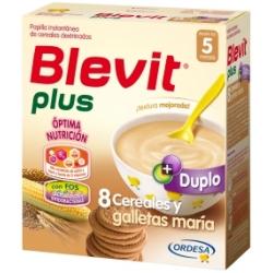 BLEVIT PLUS DUPLO 8 CEREALES GALLETAS MARIA 600
