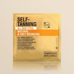 COMODYNES SELF TANNING NATURAL & UNIFORM COLOR 8 TOALLITAS