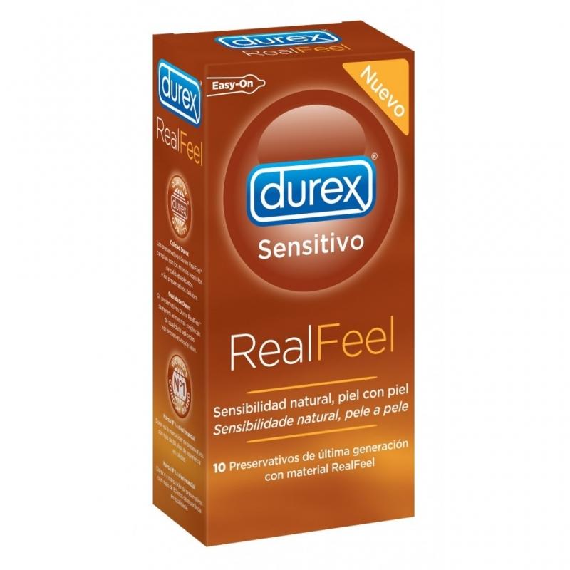 DUREX REAL FEEL PRESERVATIVOS SIN LATEX 10 U
