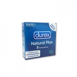 DUREX PRESERVATIVOS NATURAL PLUS EASY ON 3 U