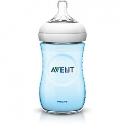 BIBERÓN NATURAL AVENT 260 ML AZUL
