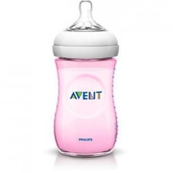 BIBERÓN NATURAL AVENT 260 ML ROSA